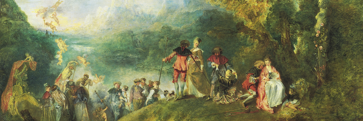 L'Embarquement pour Cythere (Pilgrimage on the Isle of Cythera), by Antoine Watteau (1717)